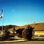 Front view of the Big Bear Airport terminal
